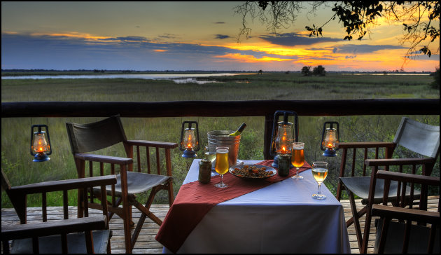 Dining under the stars in Africa